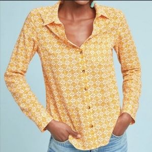 MAEVE By Anthropologie  Petrin Button Down Shirt